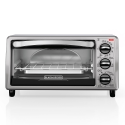 Deals List: BLACK+DECKER TO1313SBD 4-Slice Toaster Oven, Includes Bake Pan, Broil Rack & Toasting Rack, Black