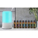 Deals List: Aesthetics Ultrasonic Aroma Diffuser and Humidifier w/Oil Set 9-Pc