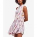 Deals List: Free People She Moves Printed Lace-Trim Slip Dress