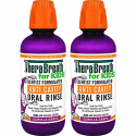Deals List: TheraBreath for Kids Dentist Recommended Anti Cavity Fluoride + Xylitol Oral Rinse - Organic Gorilla Grape Flavor, 16 Ounce (Pack of 2)
