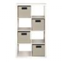 Deals List: 8-Cube Organizer with 4 Fabric Bins in White