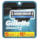 Deals List: Gillette Mach3 Men's Razor Blade Refills, 15 Count (Packaging May Vary), Mens Razors / Blades