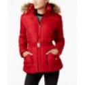 Deals List: Rampage Juniors Faux-Fur-Trim Belted Puffer Coat