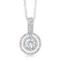 Deals List: Cubic Zirconia Double Halo Drop Necklace