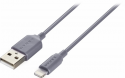 Deals List: Dynex™ - Apple MFi Certified 3' Lightning-to-USB Charge-and-Sync Cable - Gray, DX-MA5S