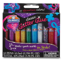 Deals List: Elmer's 3D Washable Glitter Glue Pens, Classic Rainbow, Pack of 10 Pens - Great For Making Slime