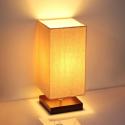 Deals List: SHINE HAI Minimalist Solid Wood Table Lamp Rectangle