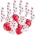 Deals List: Valentine Ballons for Valentine Decorations w/6pcs Hanging Swirls
