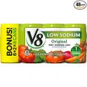 Deals List: V8 100% Vegetable Juice, Original Low Sodium, 5.5 Ounce (Pack of 48)