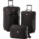 Deals List: American Tourister Black Fieldbrook II Three-Piece Luggage Set
