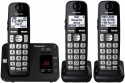 Deals List: Panasonic KX-TGE433B Cordless Phone with Answering Machine- 3 Handsets