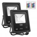 Deals List: 2-Pack Lighting EVER LE 10W RGB LED Flood Lights
