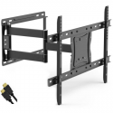 """Deals List: ONN Full-Motion Articulating, Tilt/Swivel, Universal Wall Mount Kit for 19"""" to 84"""" TVs with HDMI Cable (ONA16TM014E)"""