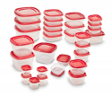 Deals List: Rubbermaid 2005627 Easy Find Lid 60-Piece Food Storage Container Set, Red