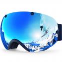 Deals List: ZIONOR XA Ski Snowboard Snow Goggles for Men Women Anti-fog UV Protection Spherical Dual Lens Design