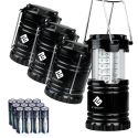 Deals List: Etekcity 4 Pack Portable Outdoor LED Lantern with 12 AA Batteries