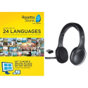 Deals List: Rosetta Stone 12 Month Subscription with Logitech H800 Bluetooth Wireless Headset with Mic for PC, Tablets, and Smartphones
