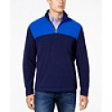 Deals List:  Club Room Mens Colorblock Quarter-Zip Fleece Pullover