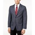 Deals List: Tommy Hilfiger Men's Slim-Fit Gray/Blue Windowpane Sport Coat