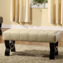 Deals List: Armen Living Central Park 36-in. Tufted Leather Ottoman