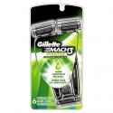 Deals List: Gillette Mach3 Men's Disposable Razor, Sensitive, 6 Count, Mens Razors / Blades