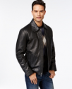 Deals List: Perry Ellis Open Bottom Leather Jacket w/ Lining