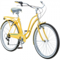 "Deals List: 26"" Schwinn Fairhaven Women's 7-Speed Cruiser Bike, Cream"