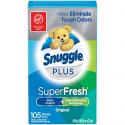 Deals List:  Snuggle Plus Super Fresh Fabric Dryer Sheets w/Ingredients, 105 Count