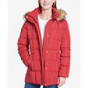 Deals List: Tommy Hilfiger Faux-Fur-Trim Box-Quilted Coat