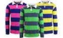 Deals List: Men's Long Sleeve Cotton Striped Fitted Polo Shirt
