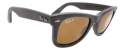 Deals List: Ray-Ban RB2140 Leather Wrapped Polarized Wayfarer Sunglasses (brown)