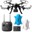 Deals List: Force1 F100 Ghost Drone with Camera - Compatible Go Pro Drone with Brushless Drone Motors and 2 Batteries and 2 Shells