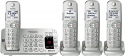 Deals List: Panasonic KX-TGE474S Link2Cell Bluetooth Cordless Phone with Answering Machine- 4 Handsets