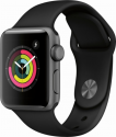 Deals List: Apple - Apple Watch Series 3 (GPS), 38mm Silver Aluminum Case with Fog Sport Band - Silver Aluminum, MQKV2LL/A