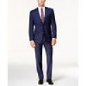 Deals List: Lauren Ralph Lauren Mens Classic-Fit Windowpane Ultraflex Suit