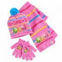 Deals List: Girls 4-16 Shopkins Apple Blossom, Kooky Cookie & D'Lish Donut Hat, Gloves & Scarf Set