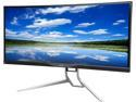 """Deals List: Acer XR341CK bmijpphz Black 34"""", 21:9 WQHD Curved , 3440 x 1440 LED IPS Monitor, Adaptive-Sync( Free-Sync) with DTS® Sound Speakers, USB 3.0, HDMI, MHL, Display Port"""
