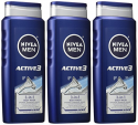 Deals List: NIVEA Men Shower and Shave 3-in-1 Body Wash 16.9 Fluid Ounce (Pack of 3)