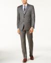 Deals List:  Lauren Ralph Lauren Men's Slim-Fit Windowpane Ultraflex Wool Suit (medium grey)
