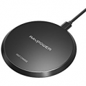 Deals List: Wireless Charger RAVPower Standard QI Wireless Charging Pad for iPhone X / 8 / 8 Plus 10W Fast Wireless Charge for Samsung Galaxy S9+/ S9 / S8 / Note 8 and All Qi-Enabled Phones (Adapter No Included)