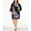 Deals List:  JM Collection Plus Size Embellished Bell-Sleeve Dress