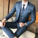 Deals List: Mens Suits Jackets + Pants + Vests 4XL 5XL Blue Men Blazer