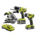 Deals List: Ryobi P1878 ONE+ 18-Volt Lithium-Ion Cordless Combo Kit (3-Tool)