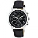 Deals List:  Seiko SNDC33 Chronograph Black Dial Leather Mens Watch
