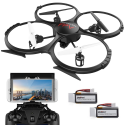 Deals List: WIFI FPV Version U818A Drone with 720P HD Camera DBPOWER Headless Mode Quadcopter with 2 Batteries Long Flying Time Drone for Beginners