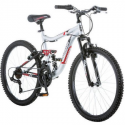 "Deals List: 24"" Mongoose Ledge 2.1 Boys' Mountain Bike, Silver/Red"