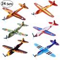 Deals List: iBaseToy Flying Glider Plane Set of 24