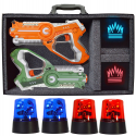 Deals List: DYNASTY TOYS Camping Games - Laser Tag - Capture the Flag Complete Set. Glow in the Dark Outdoor Toys for Day and Night
