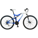 "Deals List: 29"" Iron Horse Sinister Dual Suspension Mountain Bike, Blue White"