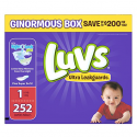 Deals List: Luvs Ultra Leakguards Disposable Diapers Newborn Size 1, 252 Count, ONE MONTH SUPPLY